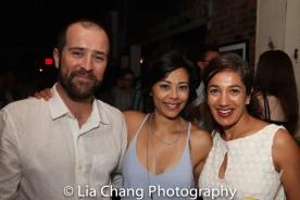 Nic Adams, Angel Desai and Purva Bedi. Photo by Lia Chang