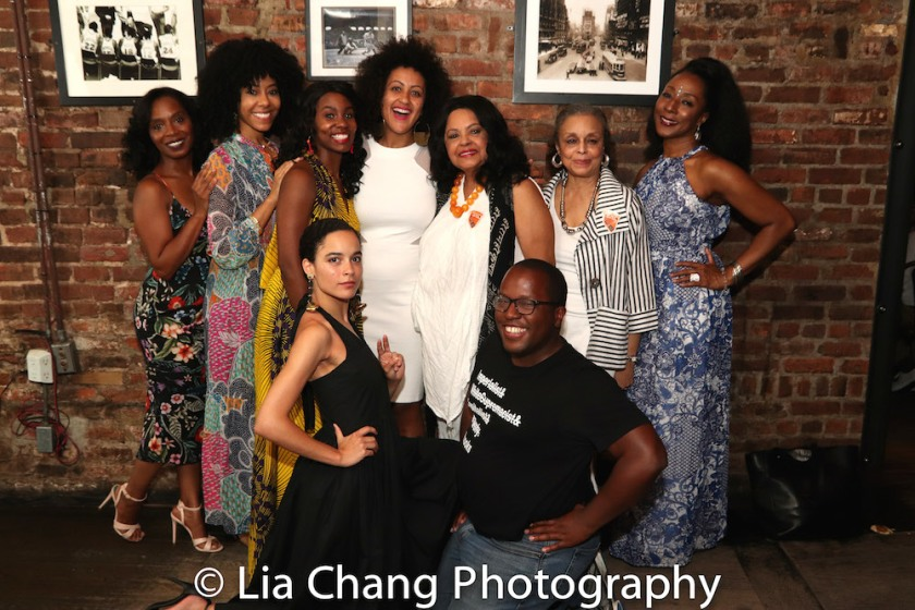 Michelle Wilson, Nedra McClyde, Joniece Abbott-Pratt, Lileana Blain-Cruz, Lynda Gravatt, Marie Thomas, Harriett D. Foy, Juliana Canfield and Michael R. Jackson. Photo by Lia Chang