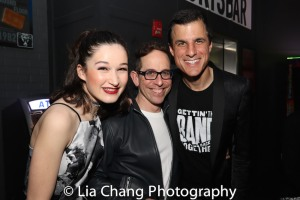 Noa Solorio, Garth Kravits and Ken Davenport. Photo by Lia Chang
