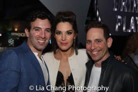 Jarrod Spector, his wife Kelli Barrett and Garth Kravits. Photo by Lia Chang