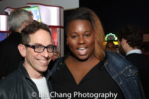 Garth Kravits and Alex Newell. Photo by Lia Chang