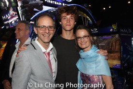 John Rando with his son Alex and his wife Eileen. Photo by Lia Chang