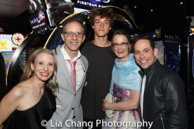 Sarah Saltzberg, John Rando with his son Alex, his wife Eileen and Garth Kravits. Photo by Lia Chang