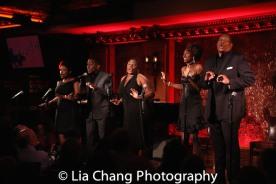 Rheaume Crenshaw, Tyrone Davis, Jr., Johmaalya Adelekan, Zurin Villeneuva, Tony Perry. Photo by Lia Chang