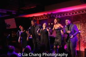 Rheaume Crenshaw, Tony Perry, Johmaalya Adelekan, Zurin Villeneuva and Tyrone Davis, Jr. Photo by Lia Chang