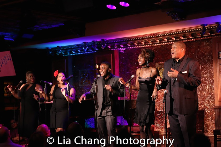 Johmaalya Adelekan, Rheaume Crenshaw, Tyrone Davis, Jr., Zurin Villeneuva and Tony Perry. Photo by Lia Chang