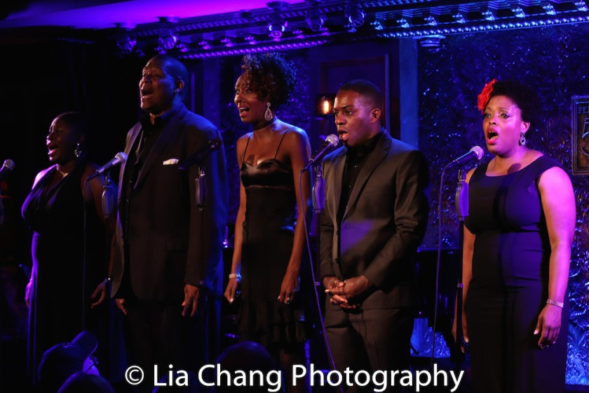 Johmaalya Adelekan, Tony Perry, Zurin Villenueva, Tyrone Davis, Jr. and Rheaume Crenshaw. Photo by Lia Chang