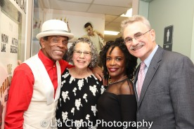 André De Shields, Mrs. Horwitz, Charlayne Woodard and Murray Horwitz. Photo by Lia Chang