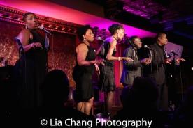 Johmaalya Adelekan, Rheaume Crenshaw,Zurin Villaneuva, Tyrone Davis, Jr. and Tony Perry. Photo by Lia Chang