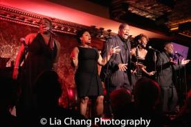 Johmaalya Adelekan, Rheaume Crenshaw, Tony Perry, Zurin Villaneuva and Tyrone Davis, Jr. Photo by Lia Chang