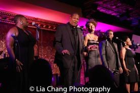 Johmaalya Adelekan, Tony Perry, Zurin Villaneuva, Tyrone Davis, Jr., and Rheaume Crenshaw. Photo by Lia Chang