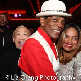 Lori Tan Chinn, André De Shields and Julia Lema. Photo by Lia Chang