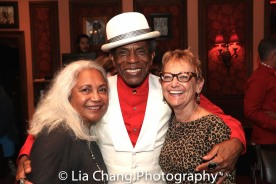 Petra Schein, André De Shields and a guest. Photo by Lia Chang