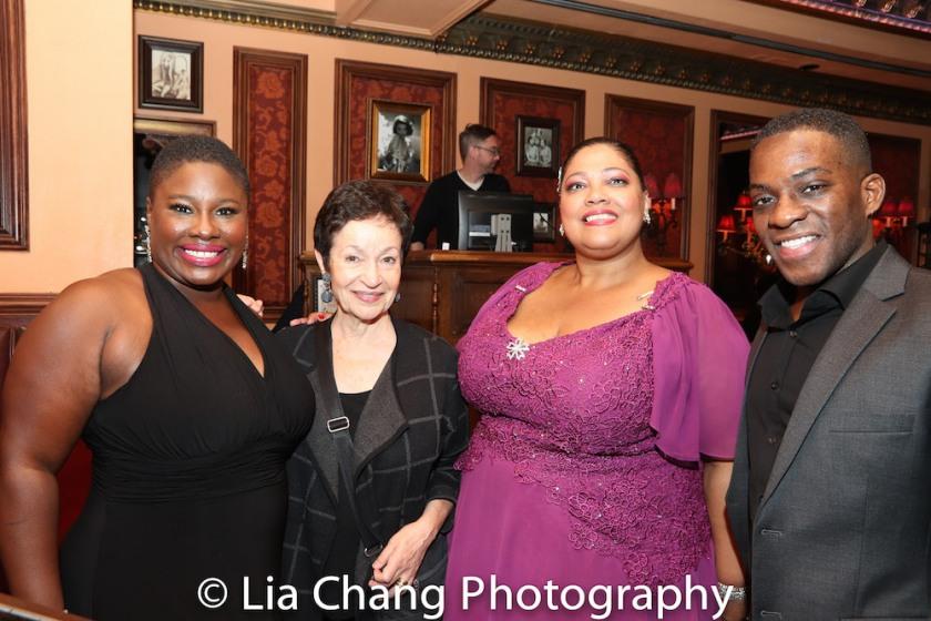 Johmaalya Adelekan, Lynn Ahrens, Cynthia Thomas and Tyrone Davis, Jr. Photo by Lia Chang