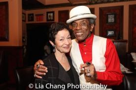 Lynn Ahrens and André De Shields. Photo by Lia Chang