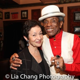 Lynn Ahrens and André De Shields. Photo by Lia Chang