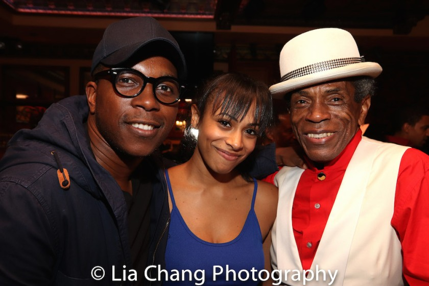 Leslie Odom, Jr. Nicolette Robinson and André De Shields. Photo by Lia Chang
