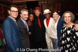 Alex Horwitz, Murray Horwitz, Charlayne Woodard, Ken Page, André De Shields, Ann Dubin and Mrs. Horwitz. Photo by Lia Chang