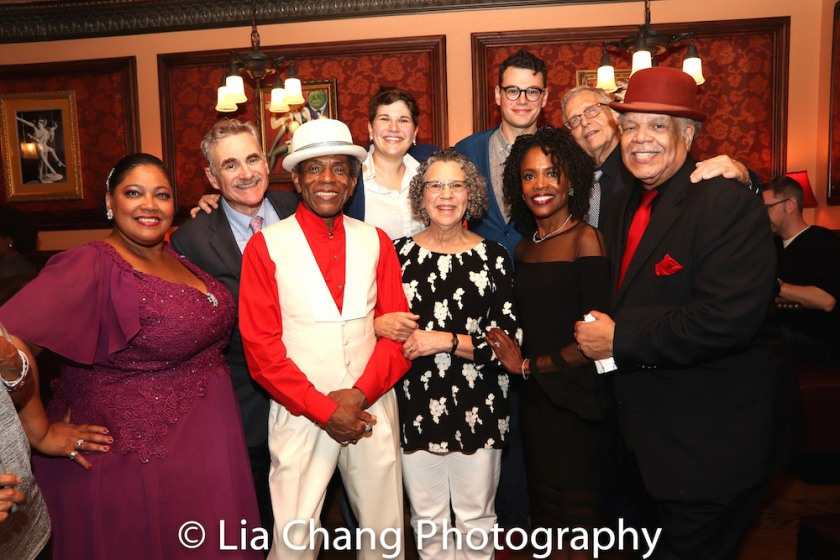 Cynthia Thomas, Murray Horwitz, André De Shields, Ann Dubin, Mrs. Horwitz, Alex Horwitz, Charlayne Woodard, Richard Maltby, Jr. and Ken Page. Photo by Lia Chang