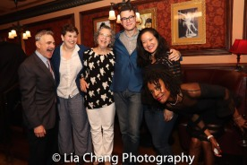 Murray Horwitz, Ann Dubin, Mrs. Horwitz, Alex Horwitz, a guest and Charlayne Woodard. Photo by Lia Chang