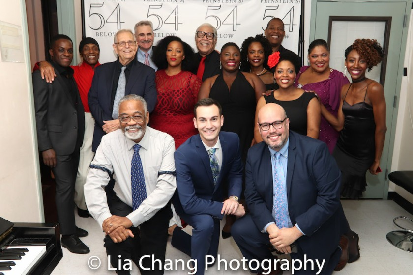 1st Row: William McDaniel, Bejamin Nissen, Robert W. Schneider. 2nd Row: Tyrone Davis Jr., Andre De Shields, Richard Maltby,Jr., Murray Horwitz, Frenchie Davis, Ken Page, Johmaalya Adelekan, Charlayne Woodard, Tony Perry, Rheaume Crenshaw, Cynthia Thomas and Zurin Villanueva. Photo by Lia Chang