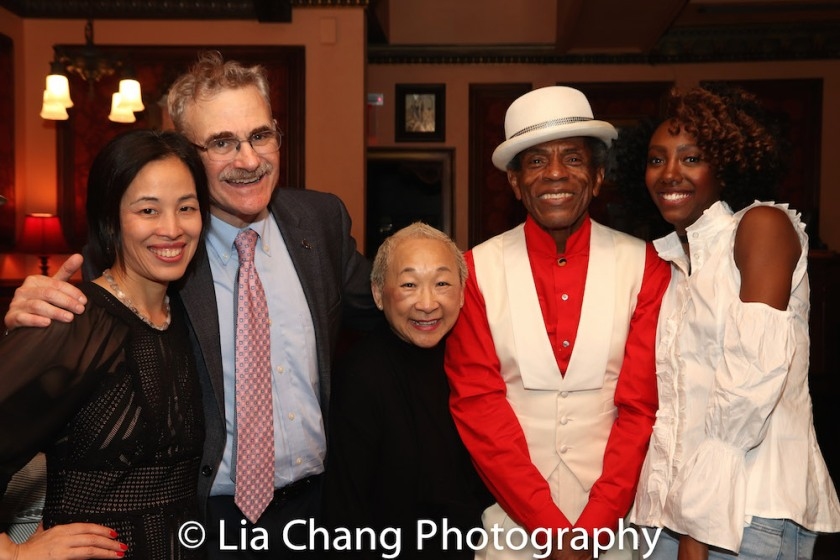 Lia Chang, Murray Horwitz, Lori Tan Chinn, André De Shields, Zurin Villanueva. Photo by Garth Kravits