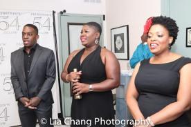 Tyrone Davis, Jr., Johmaalya Adelekan and Rheaume Crenshaw. Photo by Lia Chang