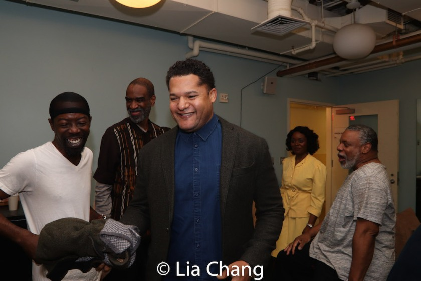 Charlie Hudson III, Brian D. Coats, Brandon J. Dirden, Brittany Bellizeare and Harvy Blanks. Photo by Lia Chang