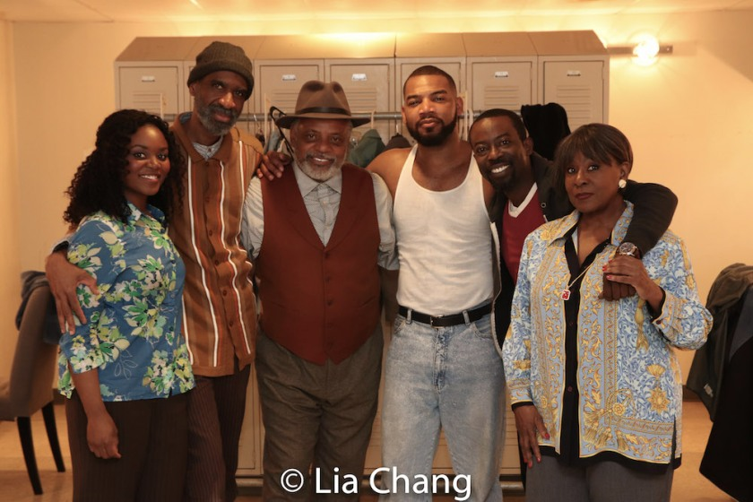 Brittany Bellizeare, Brian D. Coats, Harvy Blanks, Blake Morris, Charlie Hudson III and Elain Graham in costumes by Karen Perry. Photo by Lia Chang