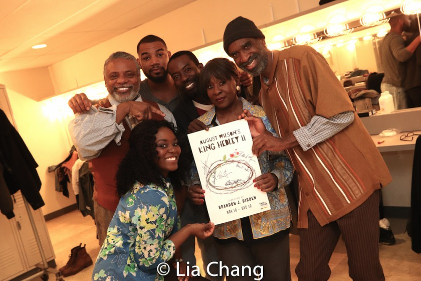 Brittany Bellizeare, Harvy Blanks, Blake Morris, Charlie Hudson III, Elain Graham and Brian D. Coats. Photo by Lia Chang