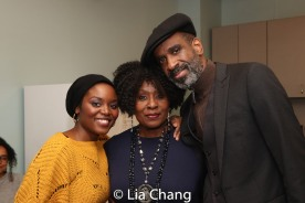 Brittany Bellizeare, Elain Graham and Brian D. Coats. Photo by Lia Chang