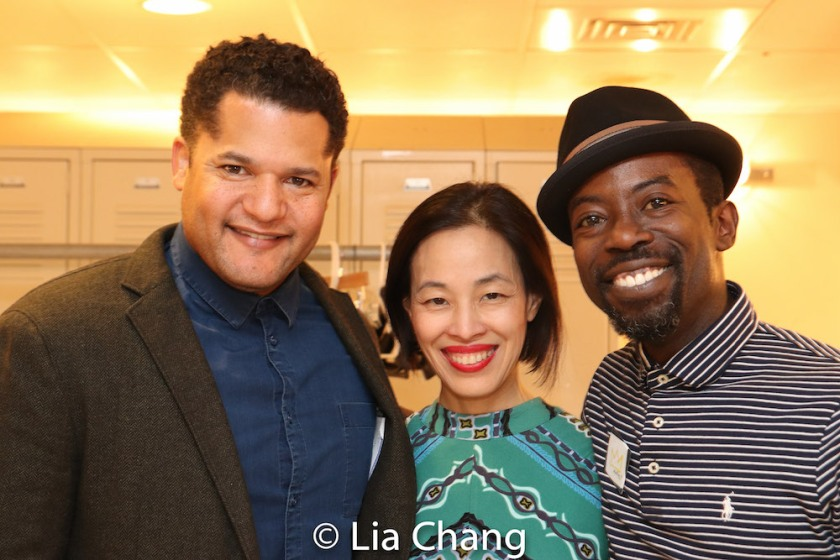 Brandon J. Dirden, Lia Chang and Charlie Hudson III. Photo by Laura Wilson