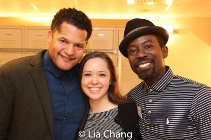 Brandon J. Dirden, Laura Wilson and Charlie Hudson III. Photo by Lia Chang