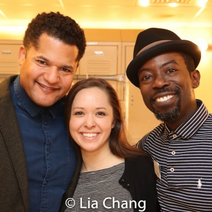 Brandon J. Dirden, Laura Wilson and Charlie Hudson III. Photo by Lia Chang