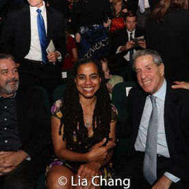 Christian Konopka, Suzan-Lori Parks and Michael Steinberg. Photo by Lia Chang