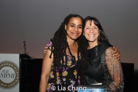 Suzan-Lori Parks and Leah Glasser. Photo by Lia Chang