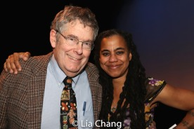 Suzan-Lori Parks and a guest. Photo by Lia Chang