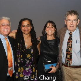 Suzan-Lori Parks, Leah Glasser and guests. Photo by Lia Chang