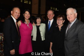 A guest, Nadine Wong, Carole Krumland, Ted Krumland and guests. Photo by Lia Chang