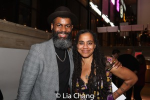 2018 Steinberg Distinguished Playwright Award winner Suzan-Lori Parks and a guest. Photo by Lia Chang