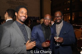 Amari Cheatom, Alfonso Johnson and Russell G. Jones. Photo by Lia Chang