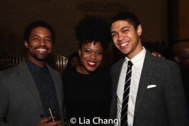Amari Cheatom, Gillian Glasco and Reynaldo Piniella. Photo by Lia Chang