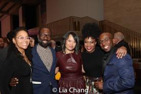 Crystal A. Dickinson, Russell G. Jones, Elz Cuya Jones, Gillian Glasco, Alfonzo Johnson. Photo by Lia Chang