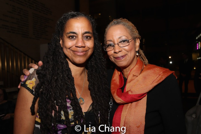 Suzan-Lori Parks and her sister Stephanie Parks. Photo by Lia Chang