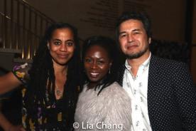 Suzan-Lori Parks, Zainab Jah and Timothy Naylor. Photo by Lia Chang