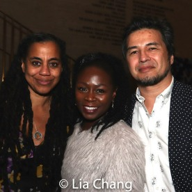 Suzan-Lori Parks, Zainab Jah and Timothy Naylor. Photo by Lia Chang