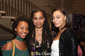 Mirirai Sithole, Suzan-Lori Parks and Amelia Workman. Photo by Lia Chang