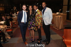 A guest, Suzan-Lori Parks, J. Cameron Barnett and Donovan Mitchell. Photo by Lia Chang