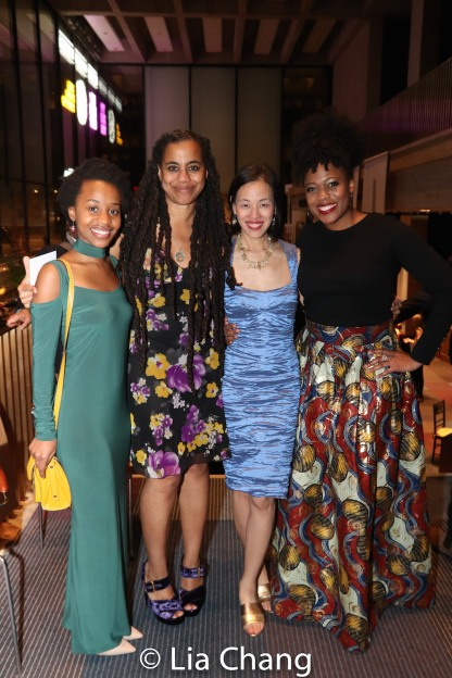 Mirirai Sithole, Suzan-Lori Parks, Lia Chang and Gillian Glasco. Photo by Garth Kravits