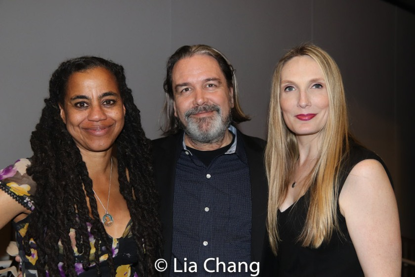 Suzan-Lori Parks, Christian Konopka and Deborah Martin. Photo by Lia Chang